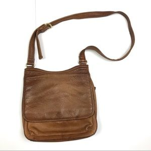 Fossil leather crossbody purse Brown